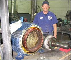 Electric motor repair shelby nc industrial electronic for Industrial electric motor repair